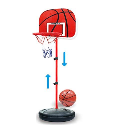 LNLJ Sistema de aro de baloncesto portátil para niños, altura ajustable de 63 a 150 cm, juego de portería de baloncesto para interiores y exteriores, equipado con bomba y baloncesto