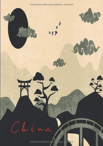 China Notizbuch: schlichtes Notizbuch mit chinesischer Landschaft