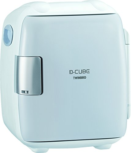 TWINBIRD 2電源式コンパクト電子保冷保温ボックス D-CUBE S グレー HR-DB06GY