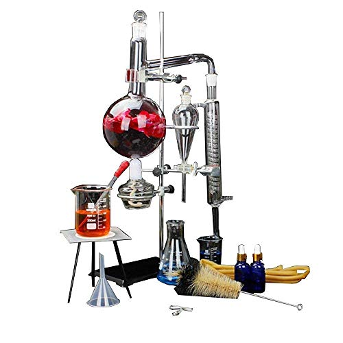 Equipo profesional de laboratorio para equipos de vidrio químico, equipo de laboratorio de extracción de aceite esencial científico, equipo de laboratorio, material para la enseñanza en el hogar