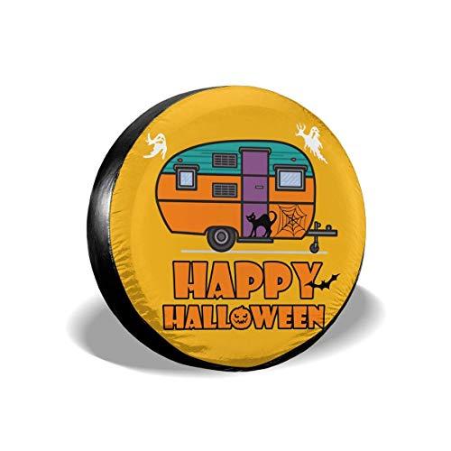 Ahdyr Happy Halloween Camping Divertido Cubierta de neumático de Repuesto Impermeable a Prueba de Polvo Cubierta de neumático Universal de Repuesto para Muchos vehículos 14 '15' 16 '17'