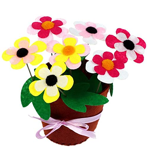 Felt Diy Crafts Kids Diy Flower Pot Potted Plant Kindergarden Learning Education Toys Teaching Aids Toy Crafts And Sewing,D