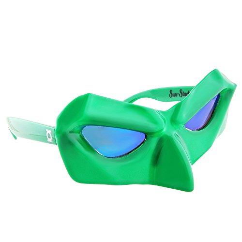Sun-Staches - Gafas de sol con linterna verde de DC Comics, para fiestas, UV400 para mujer, unisex, adulto, 8 pulgadas
