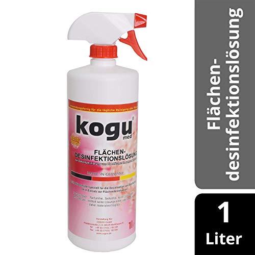 kogu Flächendesinfektionslösung Desinfektionsmittel für Flächen, Desinfektionsspray Flächendesinfektion, 1 Liter