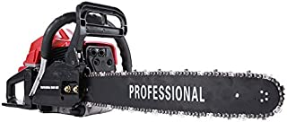 Homgrace 45CC Chainsaw, 2 Cycle Gas Powered Chian Saw 20Inch Powerful Chainsaws Air Cooled 2-Stroke for Wood Sawing Cutting (45CC Model-E)
