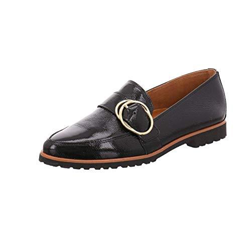 Paul Green Damen Super Soft Slipper, Frauen Mokassins, schlupfhalbschuh Slip-on College Schuh Loafer businessschuh weiblich Lady,Schwarz,4 UK / 37 EU