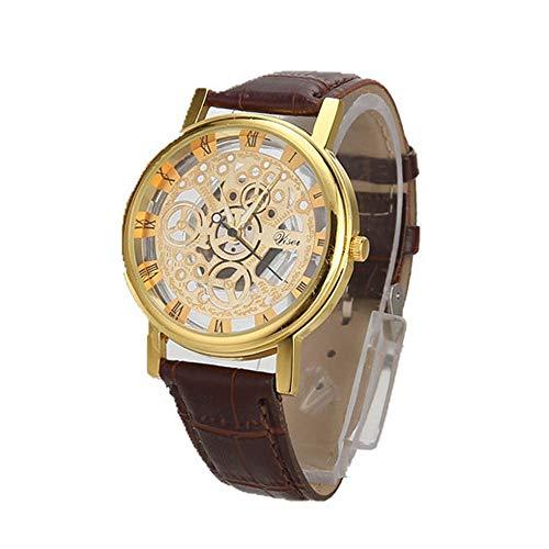 OPAKY Relojes de Hombre Deportivos Reloj Analógico de Cuarzo para Caballero Manera de Cuero Hombres Cuarzo Militar Deporte Cuero Banda Reloj de Pulsera