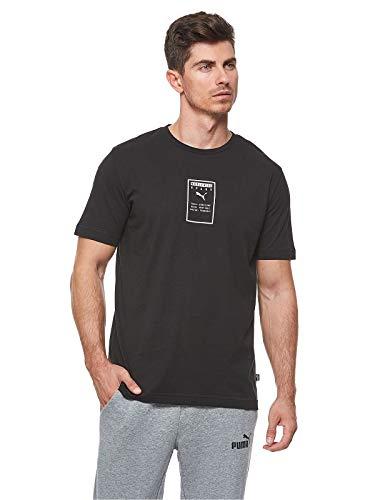 Puma Men's Plain Regular fit Top (85407501_Cotton Black M)