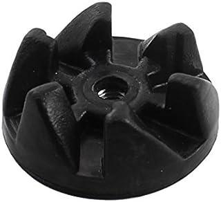 eDealMax mezclador eléctrico de 6 dientes de goma Negro acoplador de accionamiento del embrague 36 mm