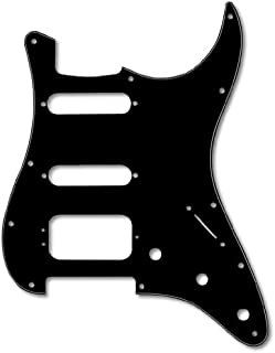 Fender Modern Pickguard, HSS Stratocaster, 11-Hole - Black 3-Ply (3-Screw Hum)