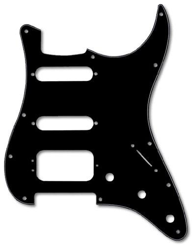 Fender Modern Pickguard, HSS Stratocaster, 11-Hole - Black 3-Ply (3-Screw Hum)