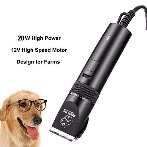 ZALE Profi-Werkzeuge Pet Haarschneider, 2020 20W Elektro-Hundehaar-Haustier-Haar-Scherer, High-Power-Haarschneider for Haustiere, for professionelle Dekoration Pet Haircutting und Rasieren Anti-Kratz