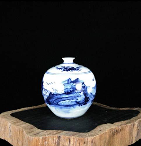 Blauw en wit porselein in Jingdezhen aardewerk antieke kleine vaas huisdecoratie ambachten mode ornamenten