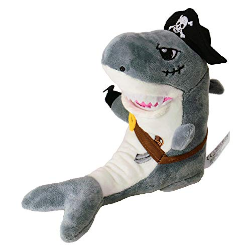 trendaffe Laber Piraten Hai Kuscheltier mit Sprachwiedergabe - Laber-Piraten-Hai Stofftier Plüschtier