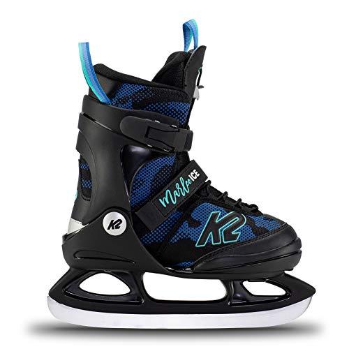 K2 Marlee Ice Patines de Hielo, Niñas, Camo-Azul, EU: 26-31 (UK: 7-11 / US: 8-12)