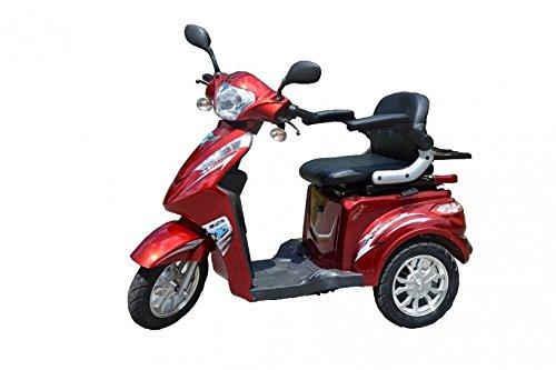 ECO Engel 501 (Rot), Elektromobil 25 km/h, 1000 Watt, E-Scooter E-Roller Senioren-Scooter mit Straßenzulassung