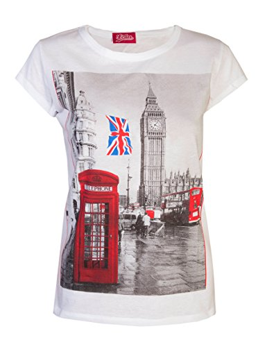 Love Lola Womens T-Shirts London Tops Big Ben Union...