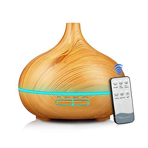 VIDOELETTRONICA® Diffusore di aroma di olio essenziale di umidificatore d'aria 400ml Aroma di diffusore di aroma aromatico di umidificatore per casa-legno