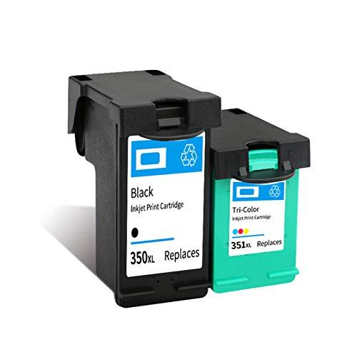 Cartuchos de tinta 350XL 351XL de alto rendimiento de repuesto para HP D4200, J5370, J5700, 6400 y negro y color