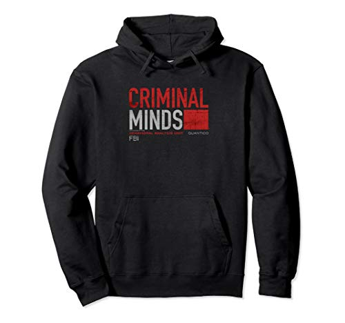 Criminal Minds Distressed BAU Quantico Pullover Hoodie