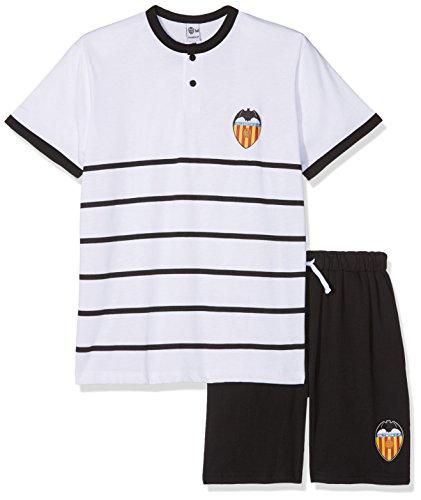 Valencia CF Pijvcf Pijama Corta, Bebé-Niños, Multicolor (Blanco/Negro), 12