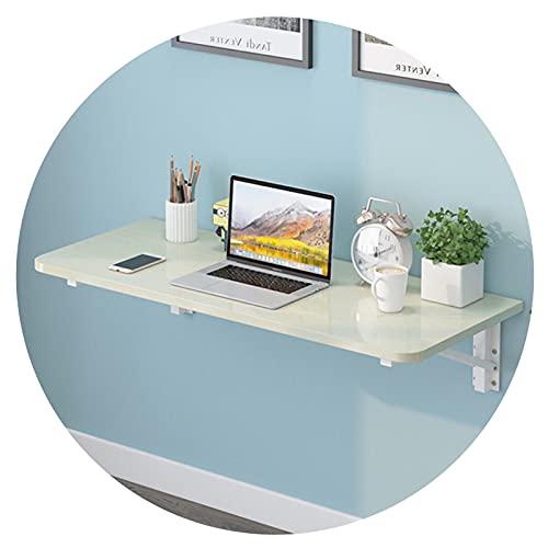 GHHZZQ Blanco Mesa Plegable De Pared Mesas De Ordenador para PC Escritorios Flotantes para Espacios Reducidos Estante De Almacenamiento Cocina Comedor (Color : A, Size : 60x30cm)