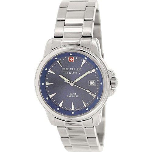Swiss Military Hanowa Reloj Analógico para Hombre de Cuarzo con Correa en Acero Inoxidable 06-5230.04.003