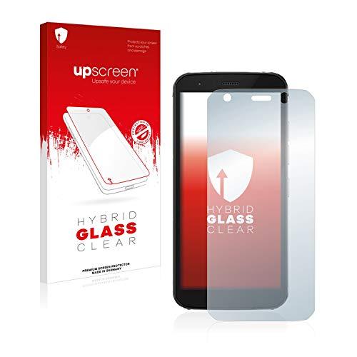 upscreen Hybrid Glass Panzerglas Schutzfolie kompatibel mit Caterpillar Cat S52 9H Panzerglas-Folie