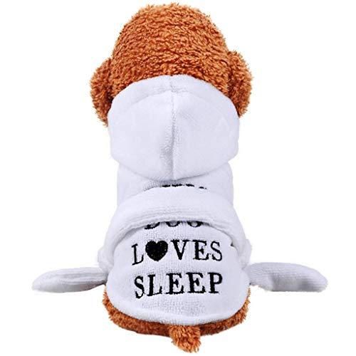 Huisdier Badhanddoek, Hond Microvezel Badjas Super Absorberende Hond Drogen Handdoek met Hooded/Riem voor Kleine Honden, XXL-Back length-35cm