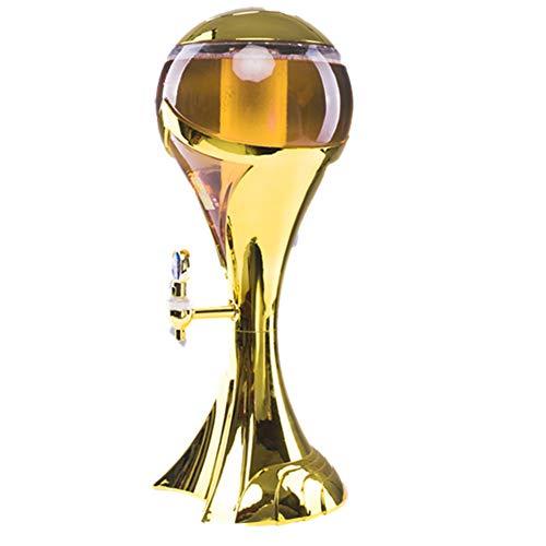 ZYRAY Dispenser per Mini fusti di Birra, Forma da Trofeo per distributore di Bevande da Tavolo da Tavolo Ideale per Feste e Barbecue,3L