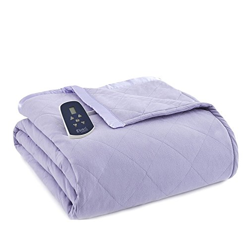 Thermee Micro Flannel Electric Blanket, Lilac, King