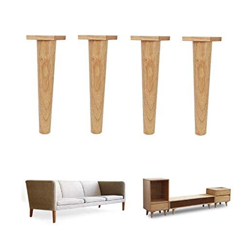 4 x houten meubelpoten, houten poten voor kasten en tv-tafels, kasten, banken, bedden, eettafel, 17,5 cm
