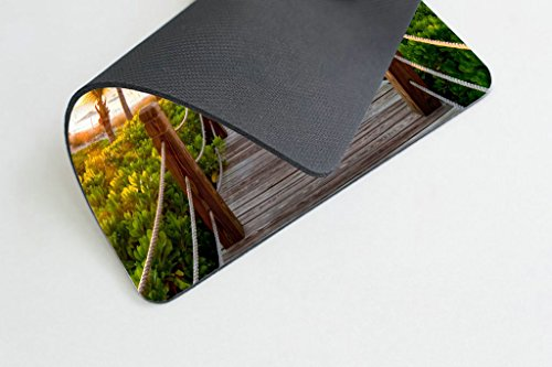 Smooffly Gaming Mouse Pad Custom,Track Palm Trees Beach Sea Ocean Personality Desings Gaming Mouse Pad Photo #2