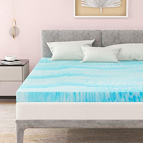 Mattress Topper, POLAR SLEEP 3 Inch Plush Gel Memory Foam Mattress Topper with CertiPUR-US Certified...