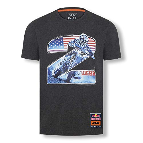 Red Bull KTM Cooper Webb 2 T-Hemd, Gris Herren Small T Shirt, KTM Racing Team Original Bekleidung & Merchandise