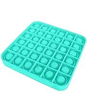 Pop it Fidget Toy, Push Pop Pop Bubble Square Squeeze Sensorisk leksak, Sensorisk autism Specialbehov Stressavlastare, Hjälp till att återställa känslor Extrusion Bubble Fidget (Grön)