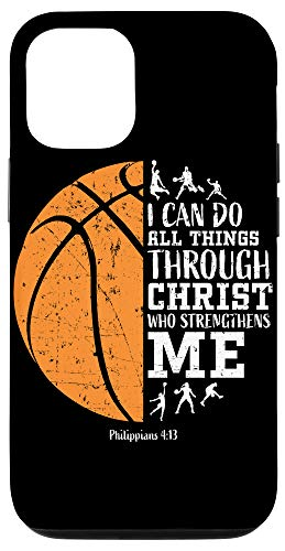 iPhone 12/12 Pro Christian Athlete Basketball Phone Cases I Can Do All Things Case