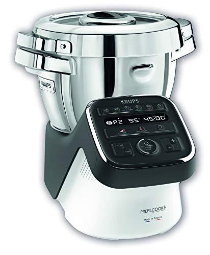 Robot de Cocina Krups Prep & Cook HP5098MX multifuncional, 4.5 L, 12 programas y un modo manual, 5 accesorios, recipiente XL, 1550W