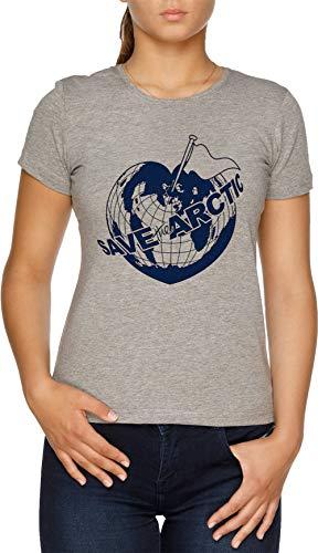 Save The Arctic - Greenpeace Damen T-Shirt Grau