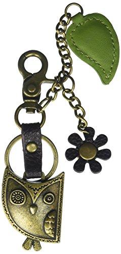 Chala Purse Bag Charm Clip On Key Ring HOOHOO OWL Cluster