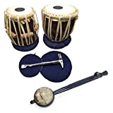 India Meets India Thanksgiving Handicraft 12.5' Ektara and 7' Tabla Drum Set Upto 8 Years Kids, Student Tabla Set, Best Gifting Made by Awarded Indian Artisan