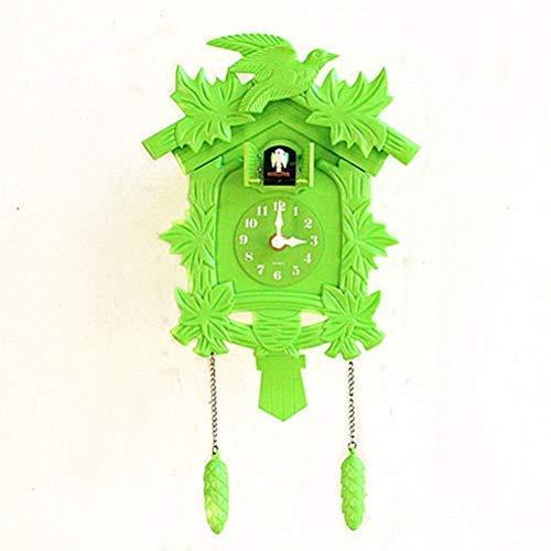 DIEFMJ Reloj de Pared pájaro Despertador Colgante para habitación de niños decoración de Granja Guess Reloj de Pared para Mujer diseño Moderno 14 Pulgadas
