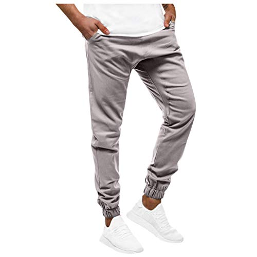 Homme Pantalon Jogging Bas de Survêtement Sweat Pants Sarouel Sport Slim Fit Pantalons Casual DéContracté Collants Slim Fit Ceinture ÉLastique Joggers Activewear Long Pants Soft Regular Fit Mode Chic