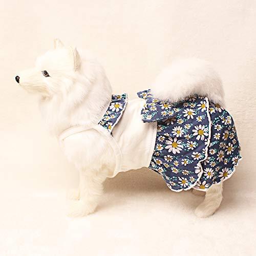 TONY HOBY Cute Flower Pet Clothes for Dog Cotton Tutu Dress Cat Summer Sundress Purple