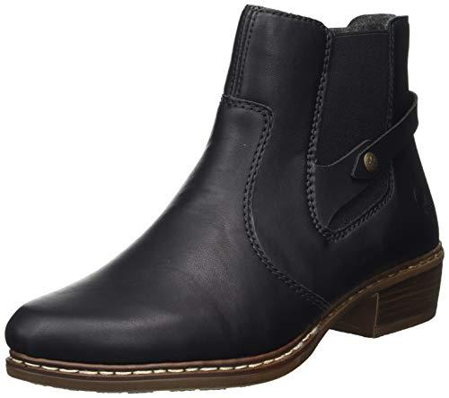 Rieker Damen Y0884 Chelsea Boots, Schwarz (schwarz/schwarz 00), 42 EU
