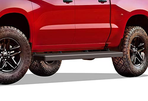 APS Wheel to Wheel Running Boards 6in Compatible with Chevy Silverado GMC Sierra 1500 2019-2022 Crew Cab 5.5ft Bed & Silverado Sierra 2500 3500 2020-2022 (Exclude 19 1500 LD) (Nerf Bars Side Steps)