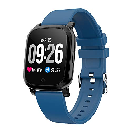 Donpow Fitness Tracker met hartslagmonitor, intelligent horloge voor Android mobiele telefoons iOS IP67, fitness armband, waterdicht, met stappenteller (blauw)