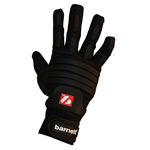 BARNETT FLG-03 - Guantes de fútbol Americano de Linemen Pro, OL,DL, Color Negro (2XL)