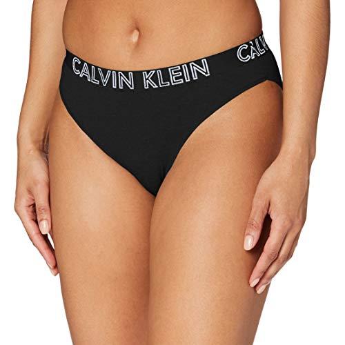 Calvin Klein Damen Bikini Bikinislip, Schwarz (Black 001), 36 (Herstellergröße: S)
