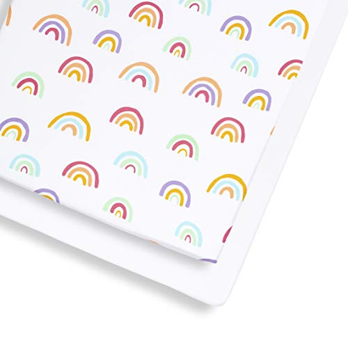 Snuz Cot and Cot Bed Fitted Sheet, Rainbow, Multi-Colour, 390 g